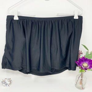 Black Tankini Bathing Suit Swim Skirt Size XL 16